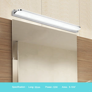 New LED Mirror Light 42-52cm 9W/12W AC110-240V Waterproof Modern Cosmetic Acrylic Wall Lamp For Bathroom Light - Much More Decor