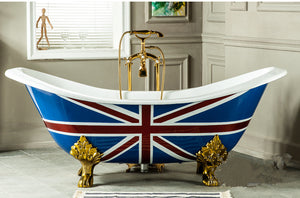 The Churchill - Freestanding Iron Indoor Bathtub - Much More Decor
