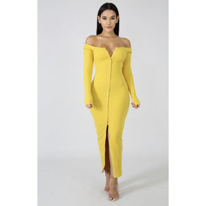 Bettina Slender Knit  Maxi Dress - Glam Luxe Couture