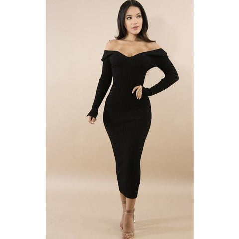 Falling For You Knit Dress - Glam Luxe Couture