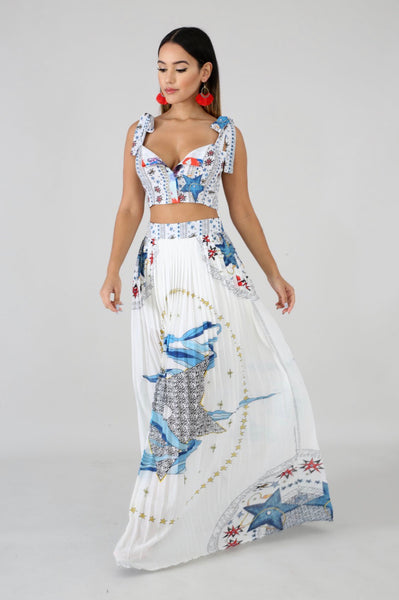 Key West Breeze Maxi Skirt Set