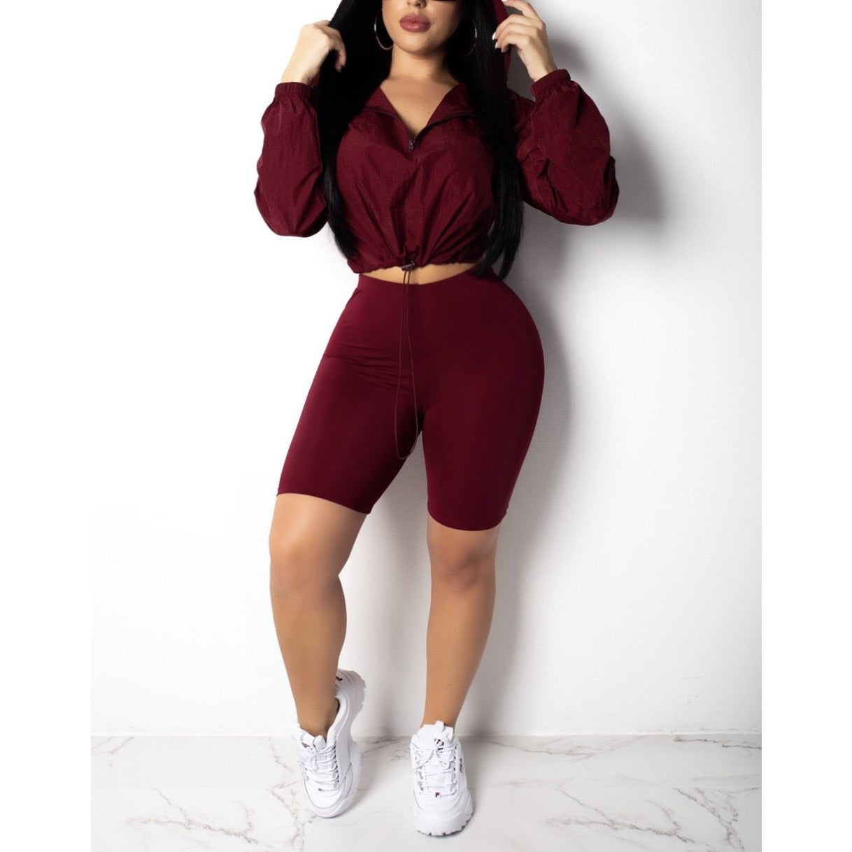 Going Into Sport Mode Capri Jogger Set - Glam Luxe Couture