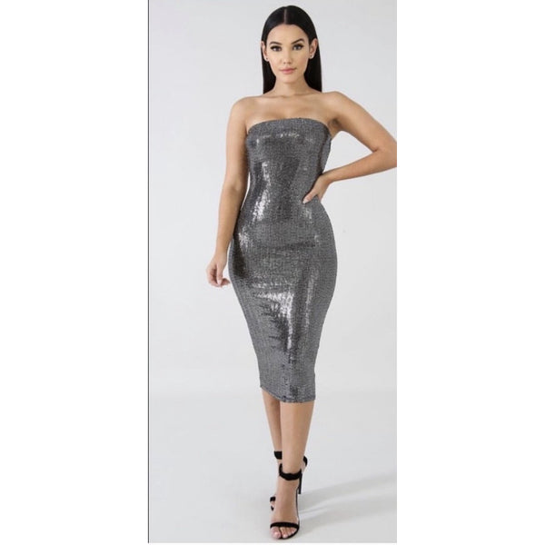 Sequin Affair Midi Dress