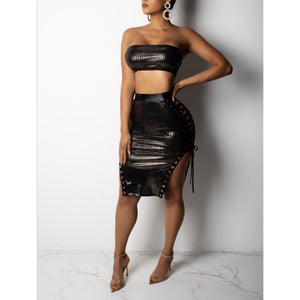 I'll Blow Your Mind Skirt Set - Glam Luxe Couture