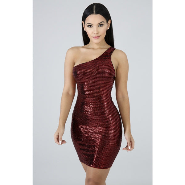 Disco Nights Kylie Sequin Mini Dress - Glam Luxe Couture