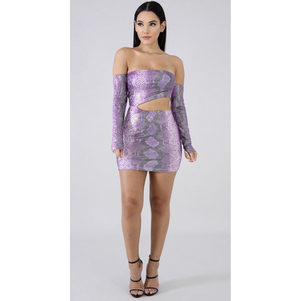 Purple Snake In Disguise Mini - Glam Luxe Couture