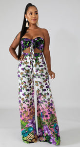 Pansy Tropical Pants Set