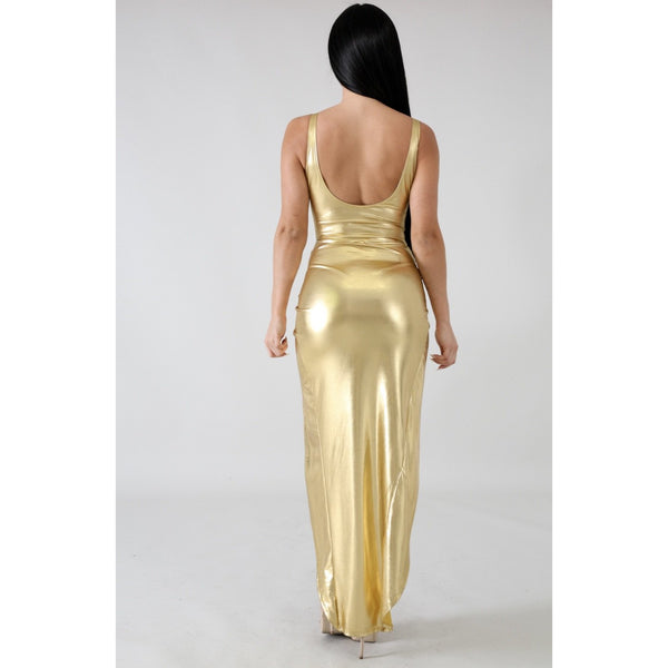 Kim Gold Goddess Two Piece Swimsuit Set