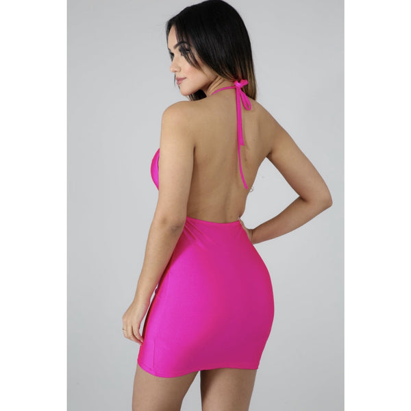 New Neon Vibes Silk Mini