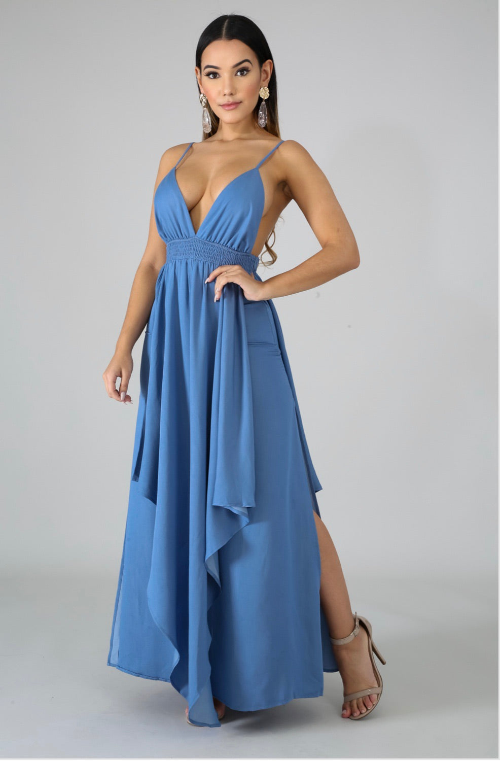 Brielle Denim Maxi Dress