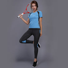 Load image into Gallery viewer, Sexy Yoga Set sports wear for women gym TShirt + Pants Breathable Gym Workout Clothes Compressed Yoga Leggings Sport Suit