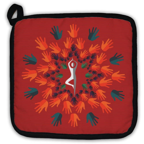 Potholder, India Yoga Human Mandala-Potholder-The Yoga Gear