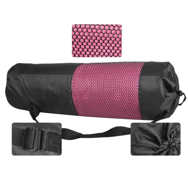 Black Mesh Yoga Mat Bag-The Yoga Gear