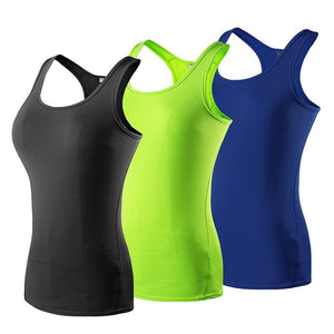 3 pcs High Elastic Quick Dry Sport Sleeveless Shirt for Women-The Yoga Gear