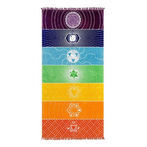 Rainbow Stripes Yoga Mat-The Yoga Gear