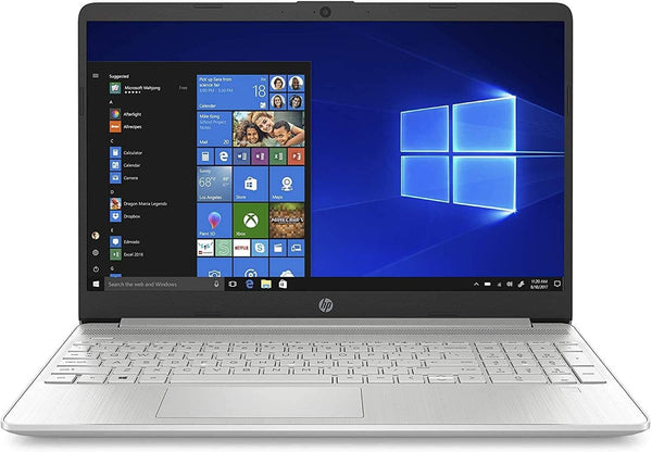 "2020 HP 15 15.6"" Laptop Computer, 10th Gen Intel Core i3 1005G1 Up to 3.4GHz (Beat i5-7200u), 4GB DDR4 RAM, 128GB SSD, 802.11AC WiFi, Bluetooth 4.2, Type-C, Silver, Windows 10 in S"