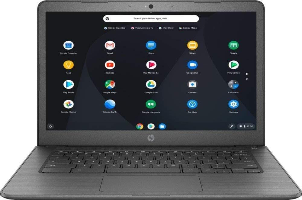 "HP 14 Chromebook 14"" Laptop Computer/ AMD A4-9120C up to 2.4GHz/ 4GB DDR4 RAM/ 32GB eMMC/ 802.11ac WiFi/ Bluetooth 4.2/ USB 3.1 Type-C/ Gray/ Chrome OS, EST USB External DVD + Accessories"