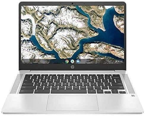 "HP Chromebook 14 14"" FHD Laptop Computer, for Education or Student, Intel Celeron N4000 Up to 2.6GHz, 4GB DDR4, 64GB eMMC, 11+ Hrs Battery, Webcam, Chrome OS, Online Class Ready - PowerPCmall"