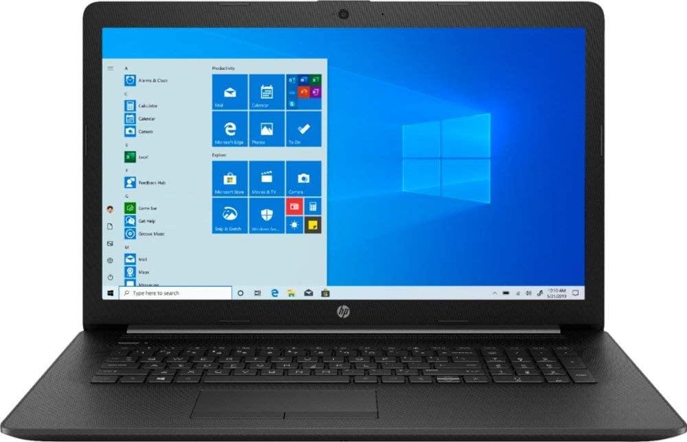 "2020 HP 17 17.3"" HD+ Laptop Computer_ 10th Gen Intel Quad-Core i5 1035G1 Up to 3.4GHz (Beats i7-7500u)_ DVDRW_ AC WiFi_ Bluetooth 5.0_ Black_ Windows 10"