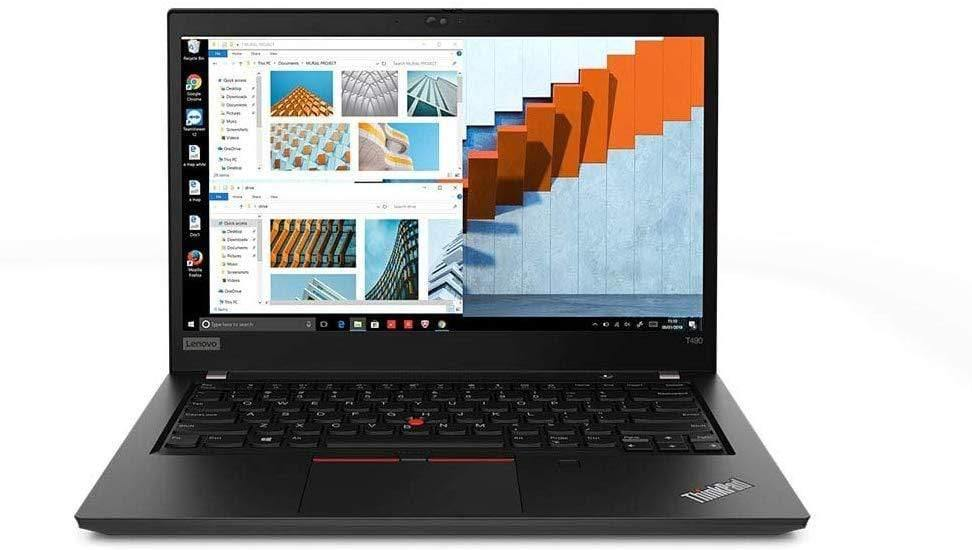 "Lenovo ThinkPad T490 14"" FHD Business Laptop Computer, Intel Quad-Core i5-8265U (Beats i7-7500U), 8GB DDR4, 256GB PCIe SSD, Fingerprint, Online Class Ready, Windows 10 Pro"