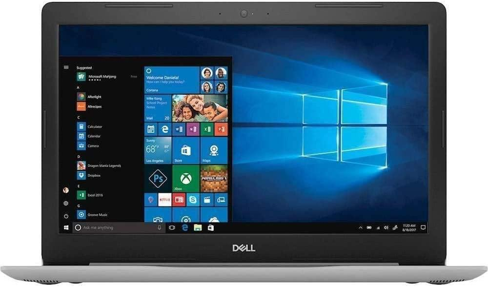 "Dell Inspiron 15 5000 Laptop Computer_ 15.6"" FHD_ Intel Quad-Core i5-8250U Up to 3.4GHz (Beats i7-7500U)_ 802.11ac WiFi, USB 3.1_ Silver_ Windows 10"