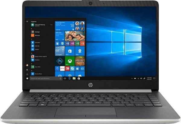 "2020 HP Premium 14"" Micro-Edge Laptop Computer, AMD A9-9425 up to 3.7GHz, WiFi, Bluetooth 4.2, USB Type-C, HDMI, Webcam, Silver, Windows 10 Home"