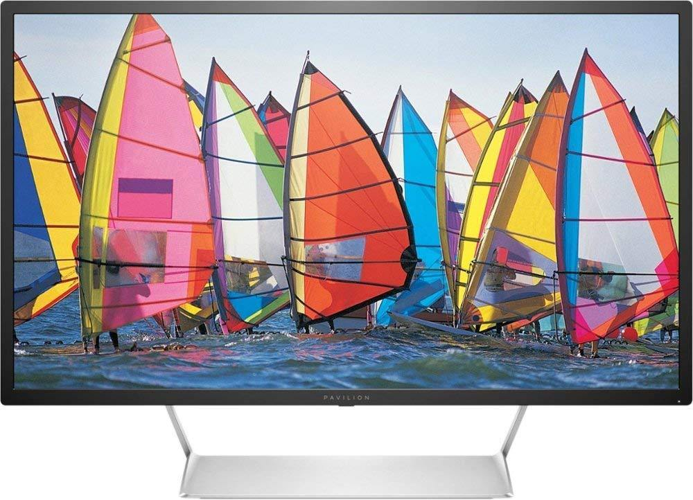"2019 HP Pavilion LED 32"" 2560x1440 QHD Monitor, 7ms Response time, 60Hz Refresh Rate, 3000:1 Contrast Ratio, 300 cd/m² Brightness, with Display Port, HDMI, and HDMI 2.0"