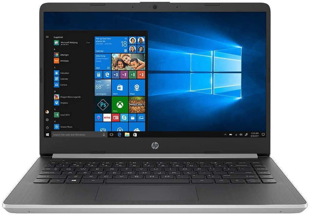"(Renewed) HP 14"" FHD Laptop Computer, 10th Gen Intel Core i3 1005G1 Up to 3.4GHz (Beats i5-7200U), 4GB DDR4 RAM, 128GB SSD, 802.11AC WiFi, USB Type-C, Silver, Windows 10 in S"