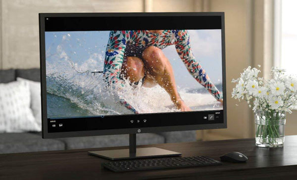 "2020 HP Pavilion LED 32"" 2560x1440 QHD Monitor, 3000:1 Contrast Ratio, 300 cd/m² Brightness, with Display Port, HDMI 1.4"