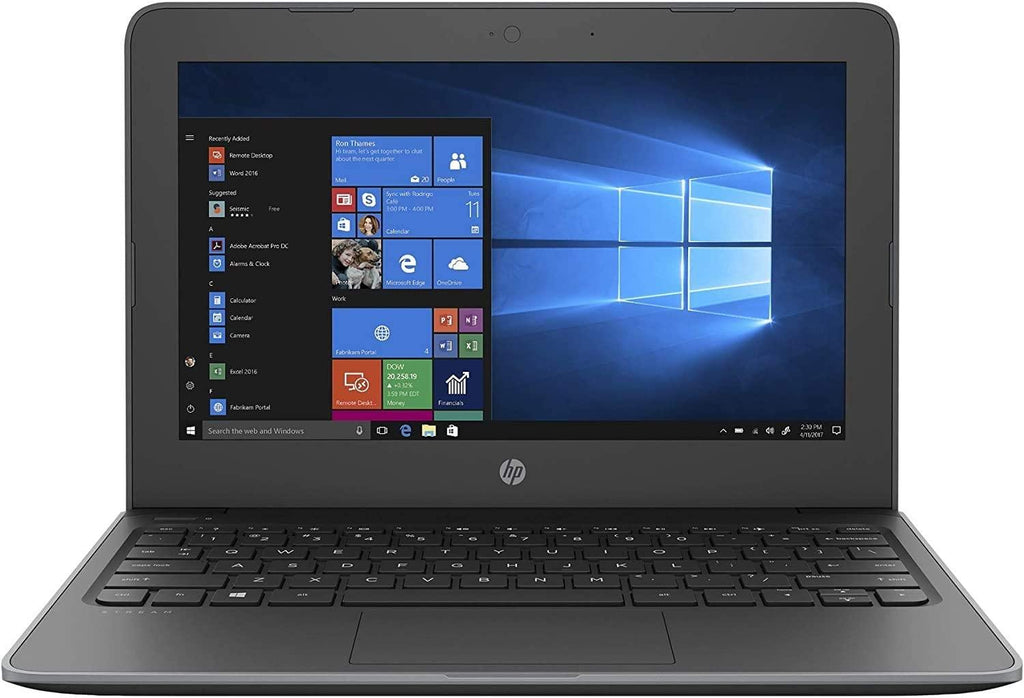 "HP Stream 11 Pro G5 11.6"" Business Laptop Computer, Intel Celeron N4000 up to 2.6GHz, 802.11AC WiFi, Microphones, Webcam, Windows 10 Pro, Online Class Ready"
