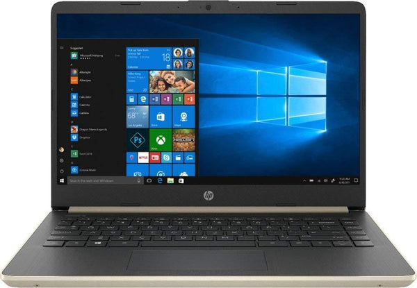 "2019 HP 14"" Touchscreen Laptop Computer: 8th Gen Intel Core i3 8145U Up to 3.9GHz (Beat i5 7200U)/ 4GB DDR4 RAM/ 128GB SSD/ WiFi/ Bluetooth 4.2/ USB 3.1 Type-C/ HDMI/ Gold/ Windows 10 Home"