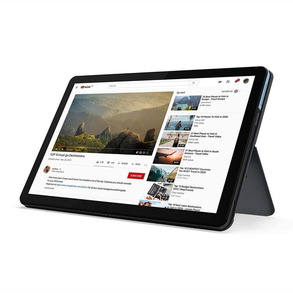 "Lenovo Chromebook Duet 2-in-1 Tablet 10.1"" FHD Touchscreen Laptop Computer, MediaTek Helio P60T Octa-Core, eMCP, Webcam, Chrome OS, Online Class Ready - PowerPCmall"