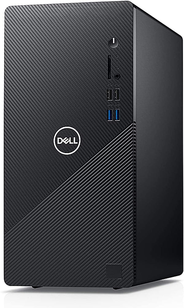 2020 Dell Inspiron 3880 Desktop Computer/ 10th Gen Intel Quad-Core i3-10100 up to 4.3GHz/Black/VGA/HDMI/WiFi/Windows 10 Home