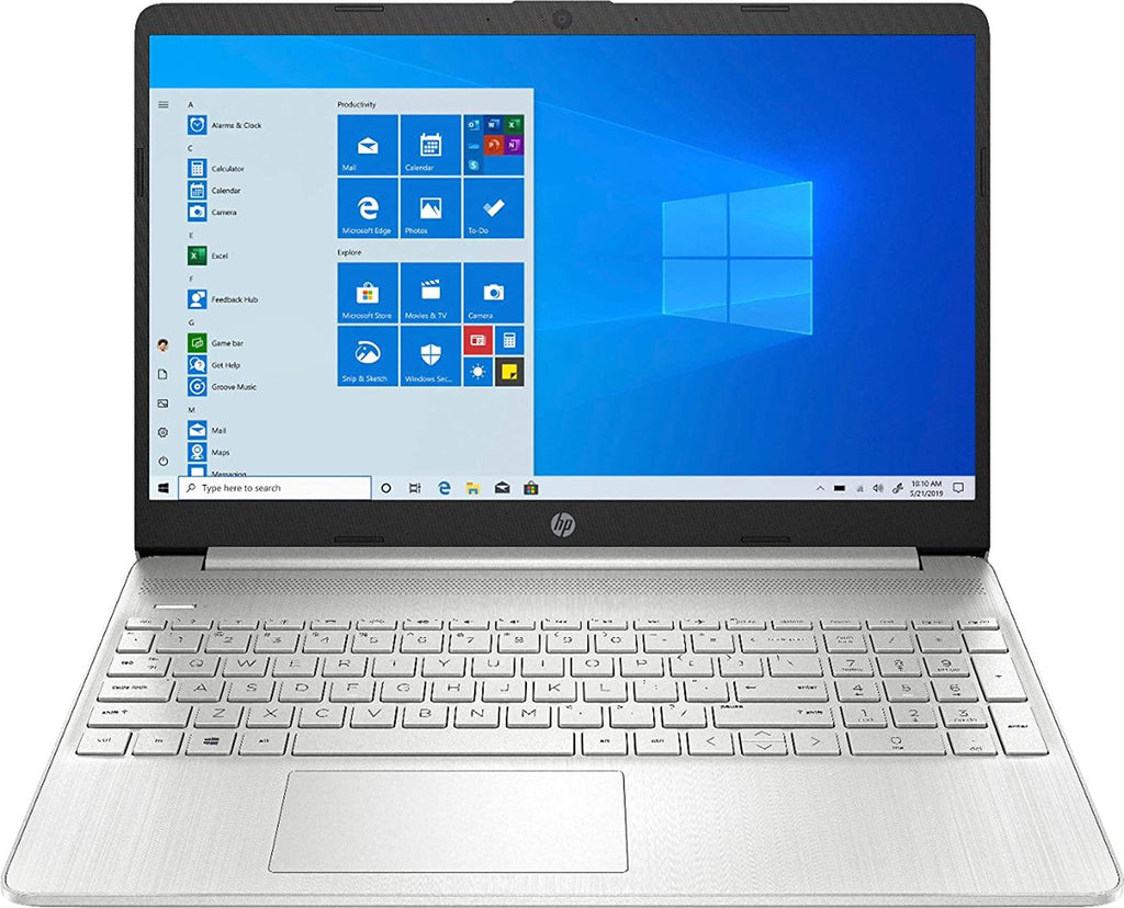 "2020 HP 15 15.6"" Touchscreen Laptop Computer, 10th Gen Intel Quad-Core i5 1035G1 Up to 3.6GHz (Beats i7-7500U), 12GB DDR4 RAM, 256GB PCIe SSD, 802.11AC WiFi, HDMI, Silver, Windows 10"