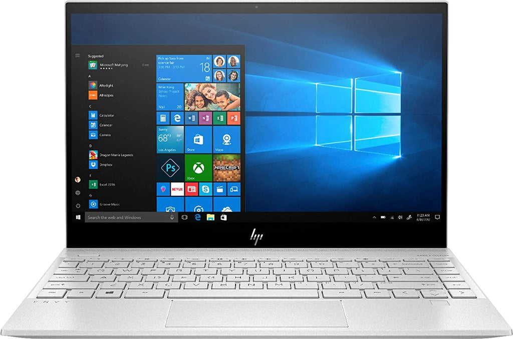 "HP Envy 13.3"" 4K Ultra HD Touchscreen Laptop Computer_ 10th Gen Intel Quard-Core i7 1065G7 up to 3.9GHz_ WiFi 6_ Bluetooth 5.0_ Silver_ Windows 10 - PowerPCmall"