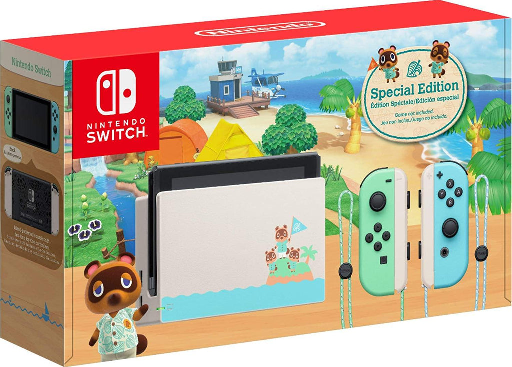 "Newest Nintendo Switch with Green and Blue Joy-Con - Animal Crossing: New Horizons Edition - 6.2"" Touchscreen Screen - PowerPCmall"