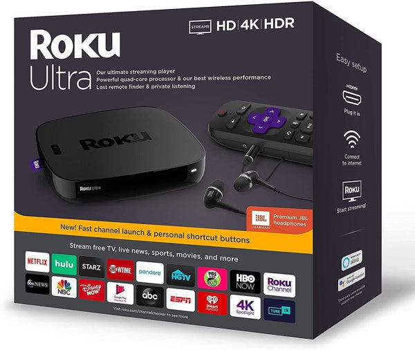 Roku Ultra | Streaming Media Player 4K/HD/HDR with Premium JBL Headphones 2020
