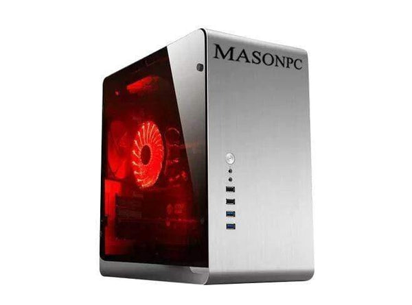 MASONPC Desktop Computer, AMD Ryzen 7-2700X 8-Core up to 4.3GHz,Radeon RX 580, USB 3.1, HDMI, 802.11ac WiFi, Windows 10.Upgrade 16GB 20GB 24GB to 32GB DDR4 RAM; Hard Drive 1TB HDD; Choose Extra Storage 256GB 512GB to 1TB SSD 2TB PCIE SSD