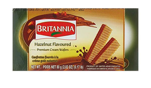 Britannia Hazelnut Flavoured cream wafers