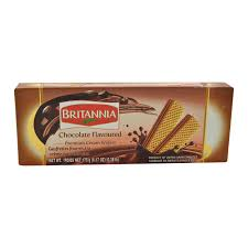 Britannia Chocolate Flavored Cream Wafers