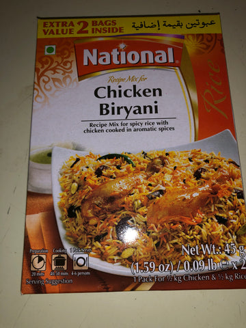 National chicken biryani