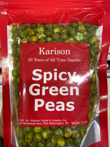 ** Karison's Spicy Green peas **