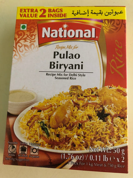 National pulao biryani