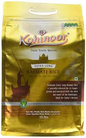 ** Kohinoor extra long basmati rice **