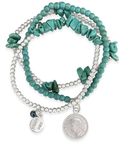 Wear for protection & luck bracelet set