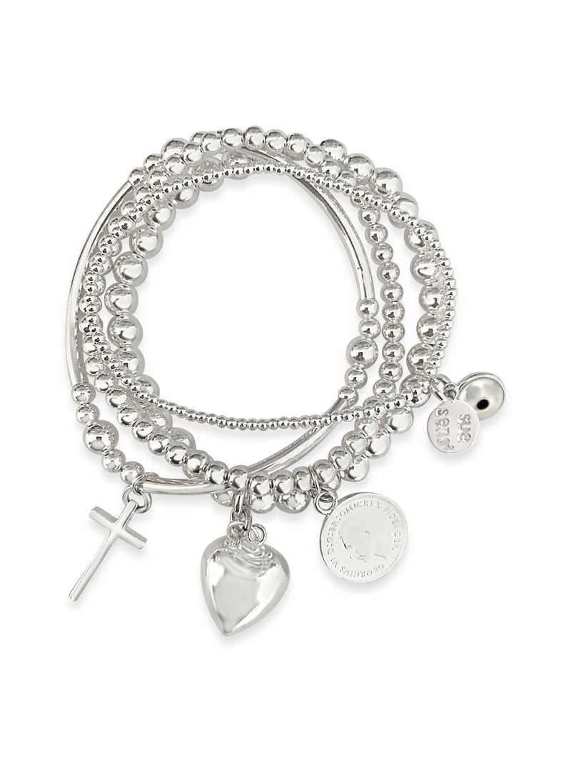 Love Faith Luck bracelet set