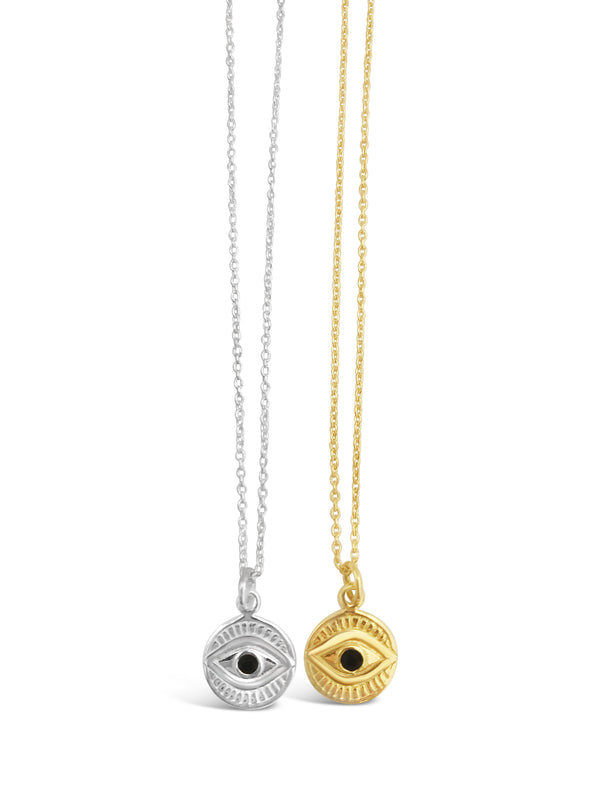 My tiny eye necklace