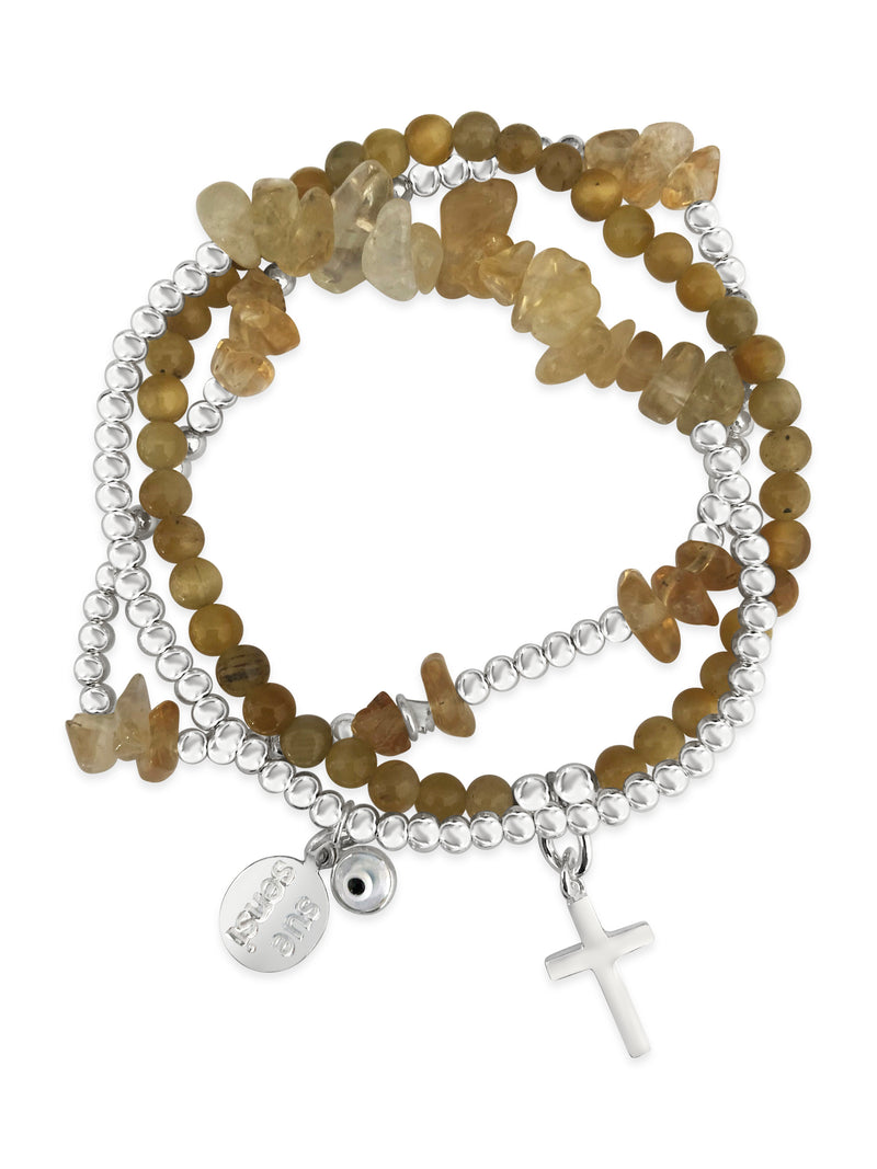 Wear for happiness & success bracelet set
