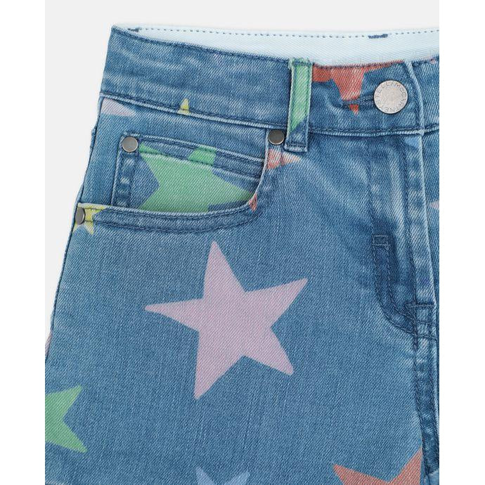 Multicol Stars Denim Short (4906752442431)