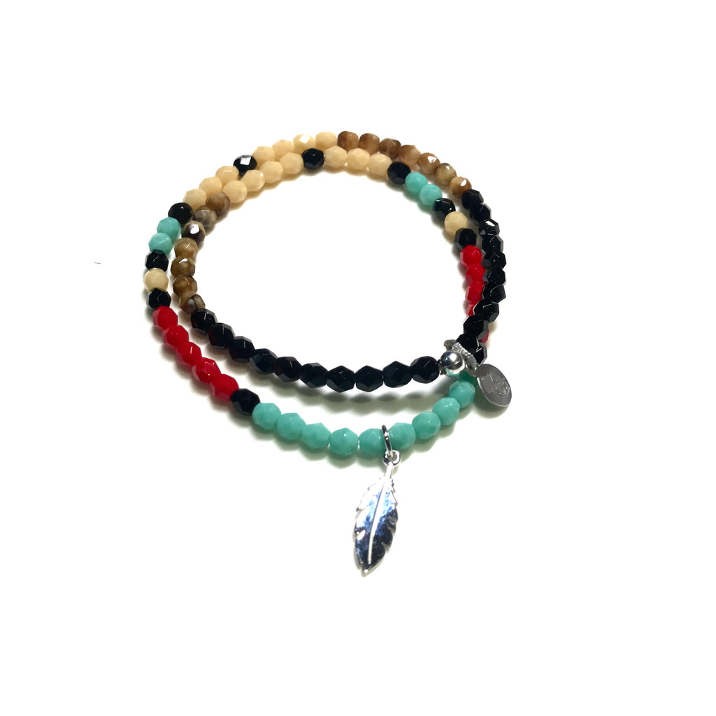 BRACELET COBRA MULTICOLORE-TETES BLONDES-Maralex Paris